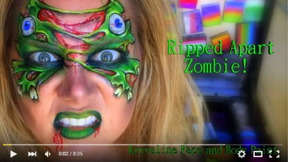 Ripped Zombie Face Painting