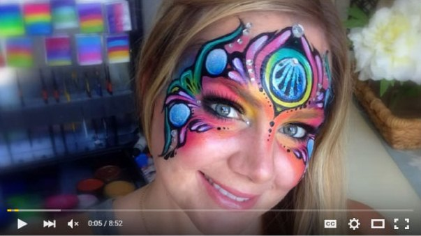 Fantasy Mask Face Painting by Lisa Joy Young