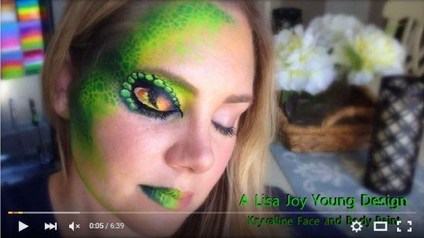 Snake Eye Face Painting by Lisa Joy Young