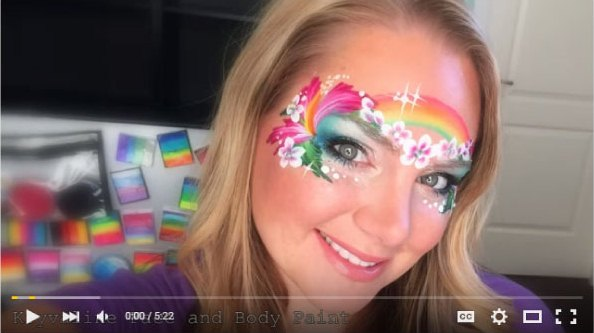Island Princess Face Painting